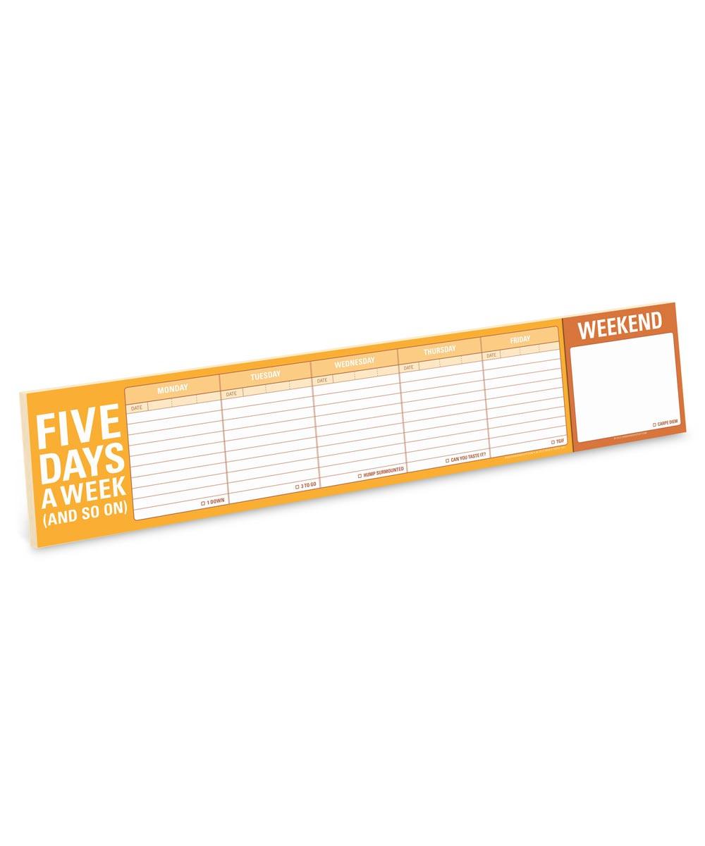 Five Days a Week Keyboard Writing Pad