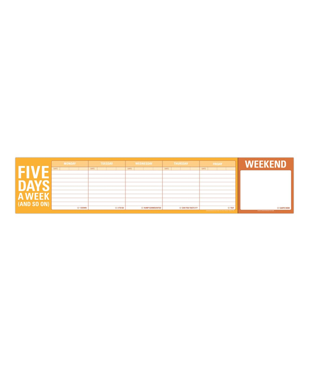 Five Days a Week Keyboard Writing Pad