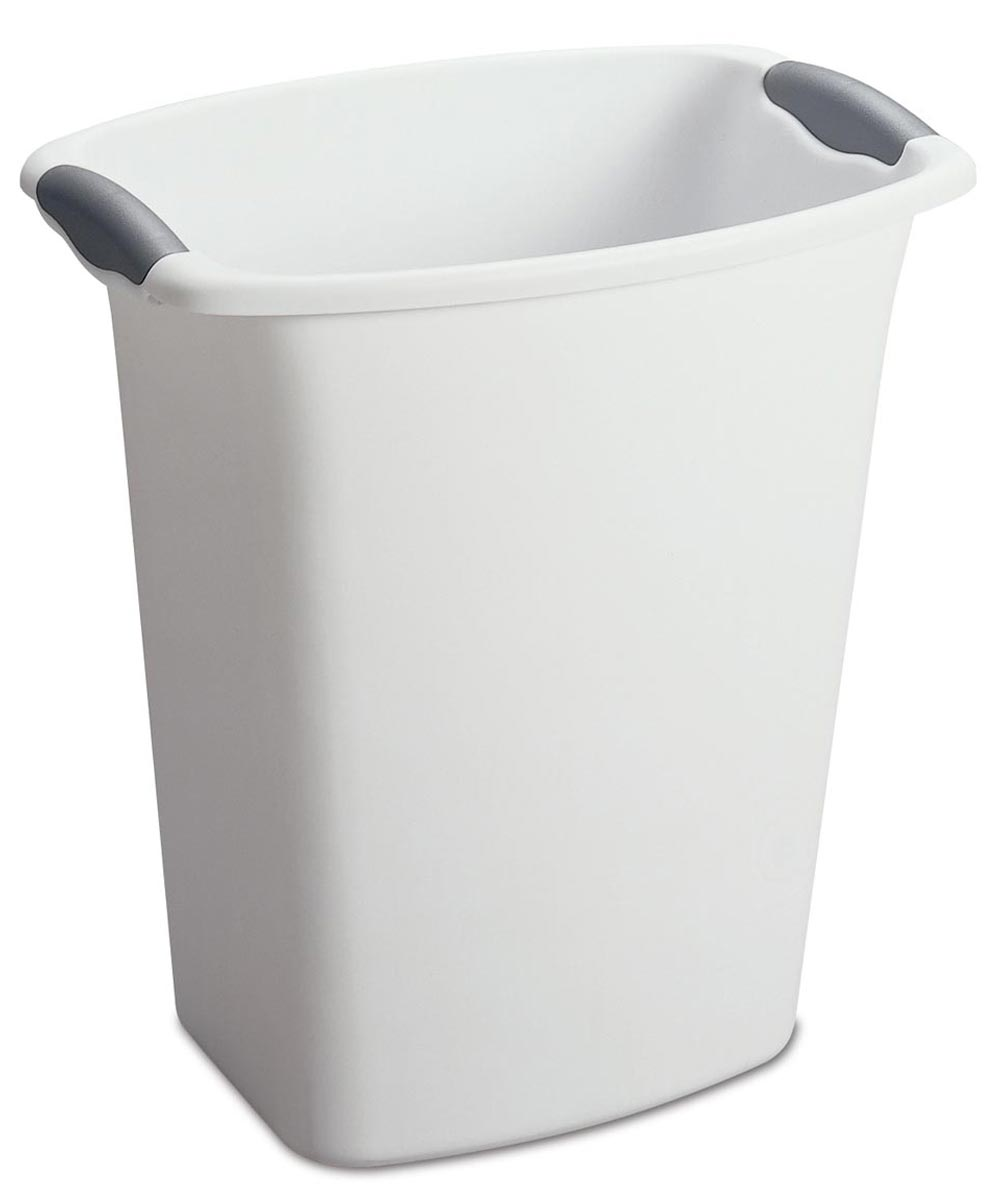 Sterilite 3 Gallon Wastebasket, White