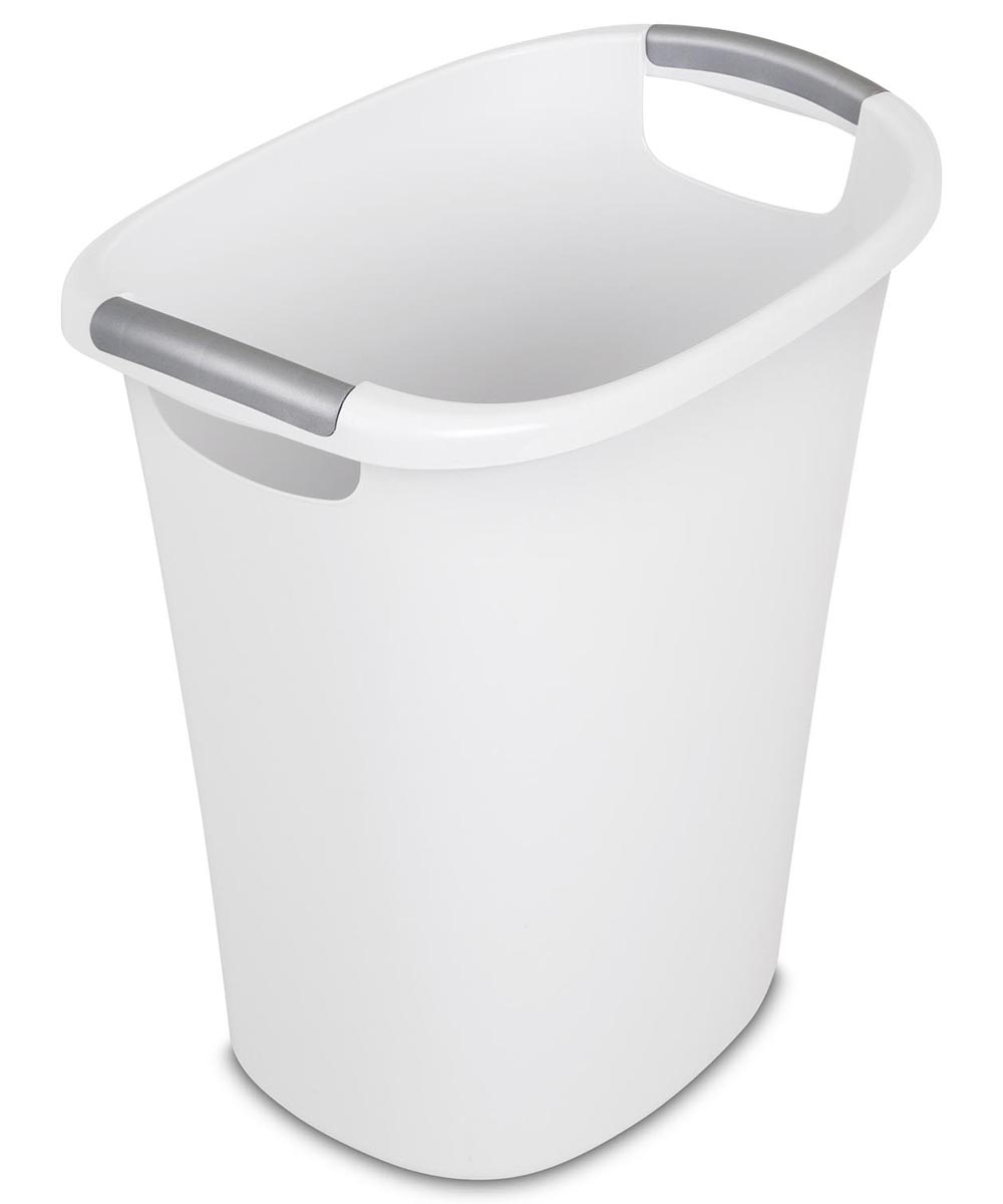 6 Gallon Ultra Wastebasket Trash Can, White