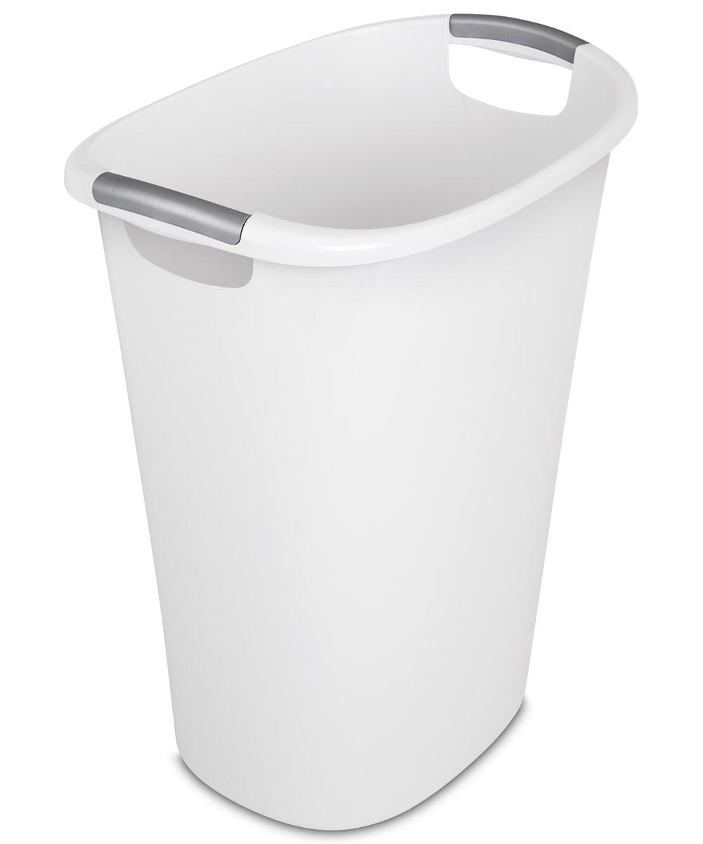 10.5 Gallon Ultra Wastebasket Trash Can, White