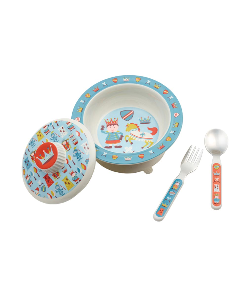 ORE' SUGARBOOGER Little Prince of Thrones Covered Suction Bowl Set