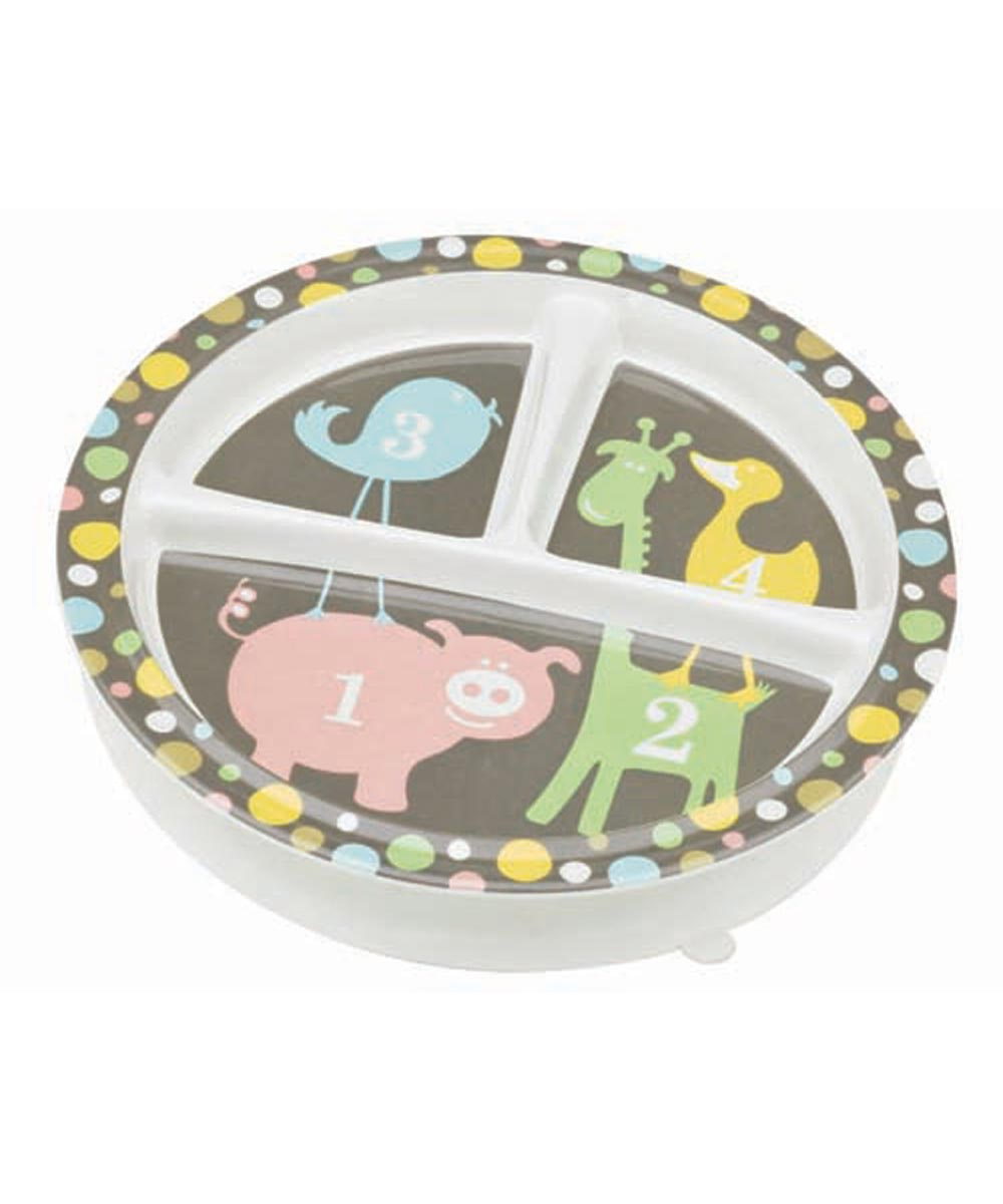 ORE' SUGARBOOGER Numbers Divided Dining Plate with Suction Base
