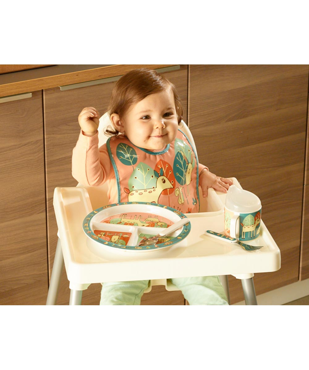 ORE' SUGARBOOGER Baby Deer Divided Dining Plate with Suction Base