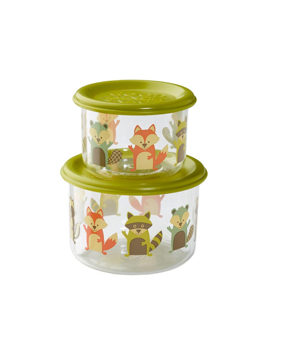 ORE' SUGARBOOGER What Did the Fox Eat? Good Lunch Snack Containers, Small Set of 2