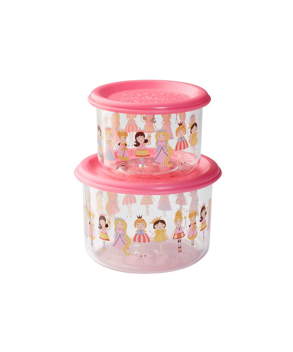 ORE' SUGARBOOGER Princess Good Lunch Snack Containers, Small Set of 2