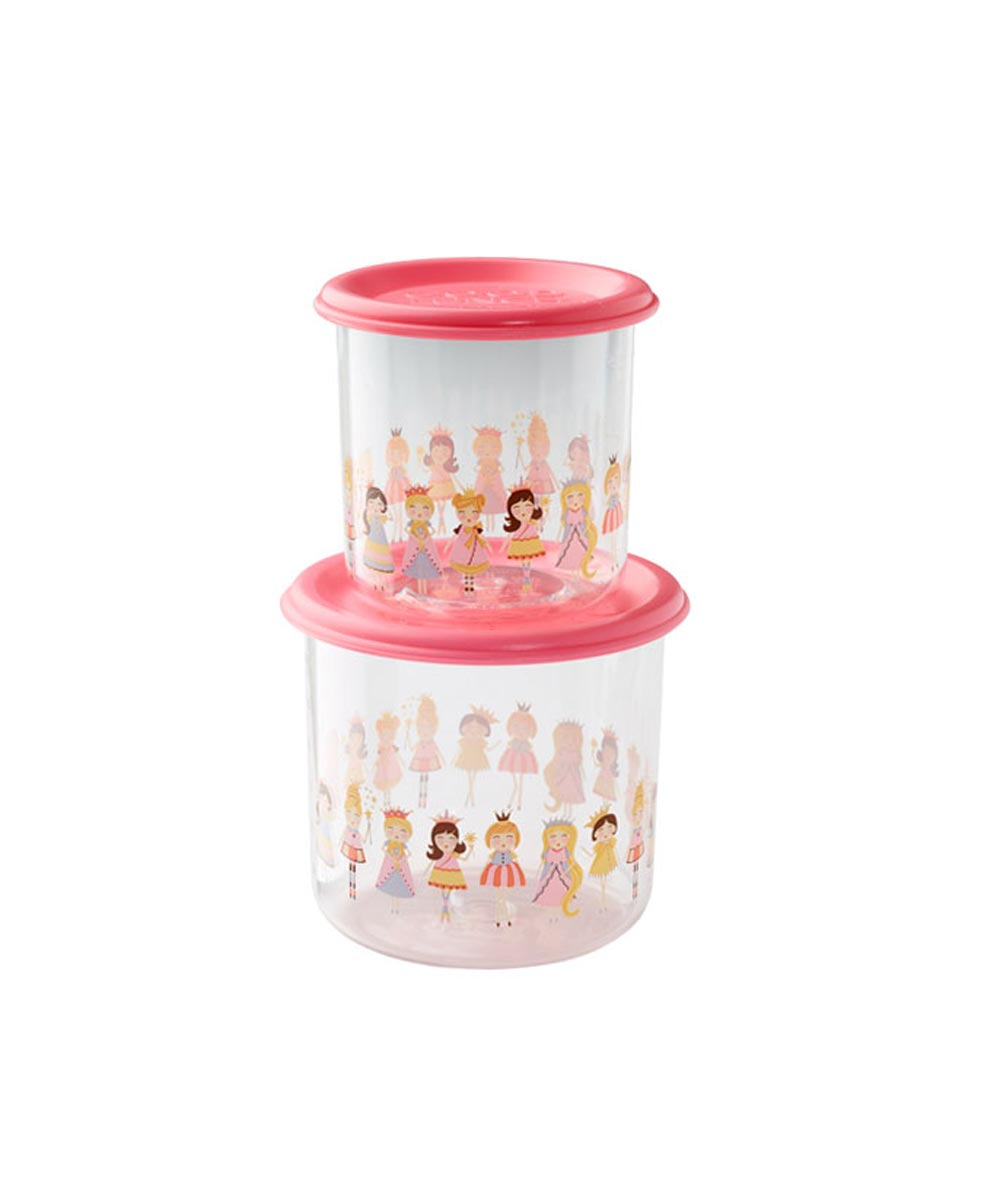 ORE' SUGARBOOGER Princess Good Lunch Snack Containers, Large Set of 2