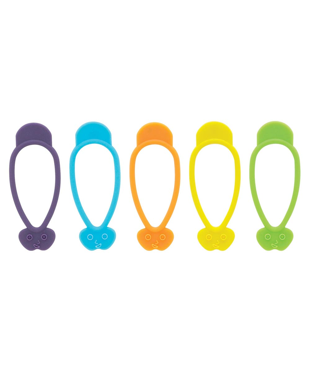 The World's Greatest Stretch-n-Twist Silicone Bag Ties, 10 Pcs.