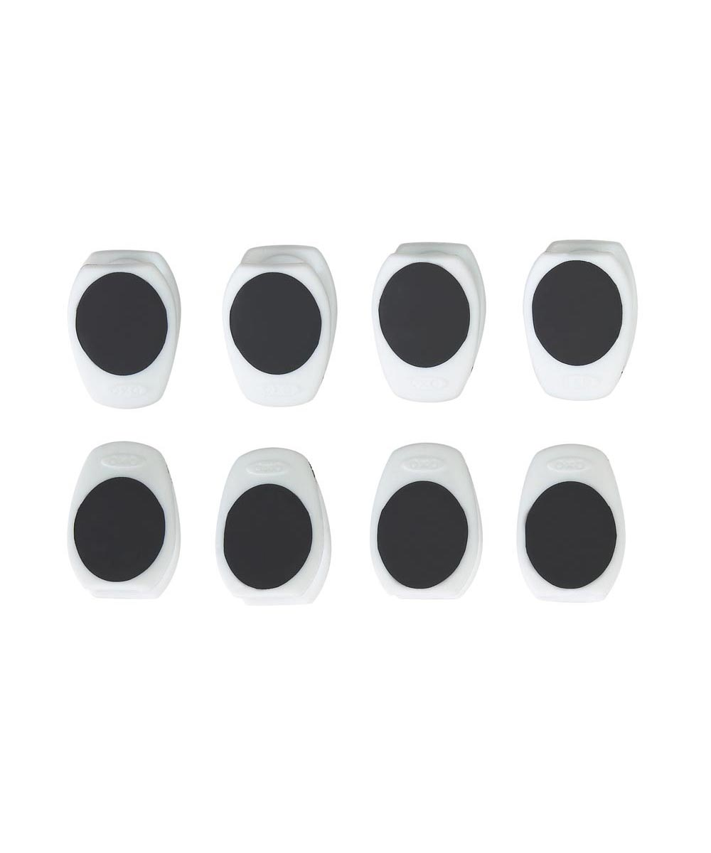 Magnetic Mini Clips, 8-Pack, White