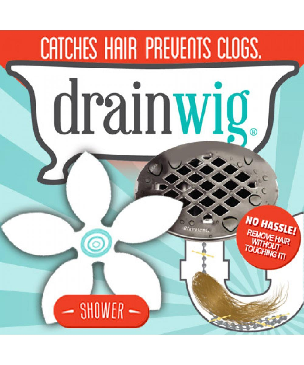 DrainWig Shower Drain Hair Catcher