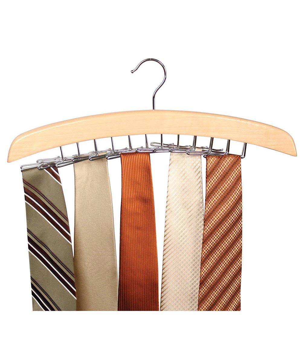 Tie Hanger, Natural Wood