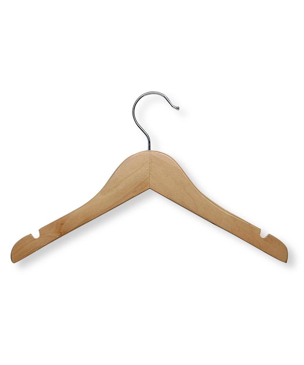 Kid's Wooden Clothes Hangers, 5-Pack
