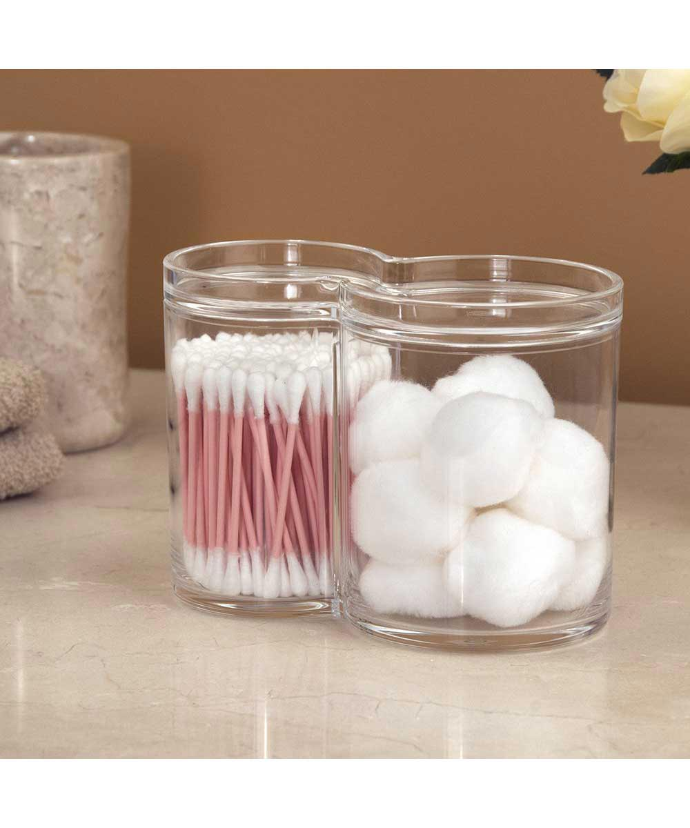 Acrylic Cotton Ball and Swab Holder