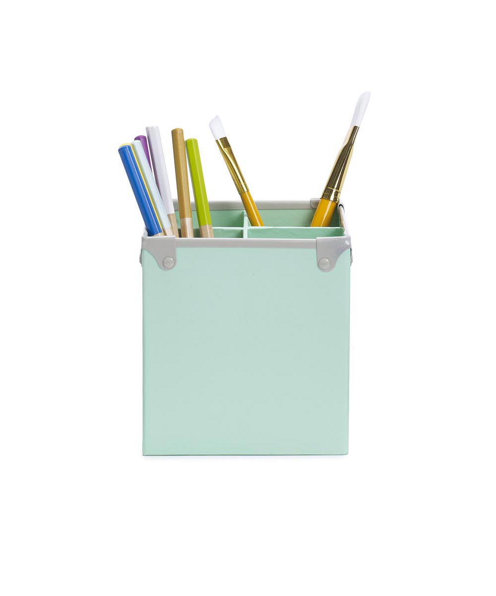Frisco Pencil Cup, Mint/Fog Color