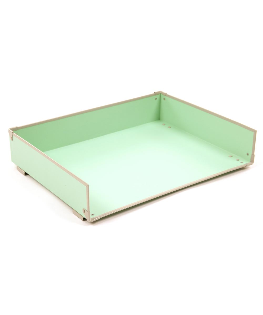 Frisco Letter Tray, Mint/Fog Color