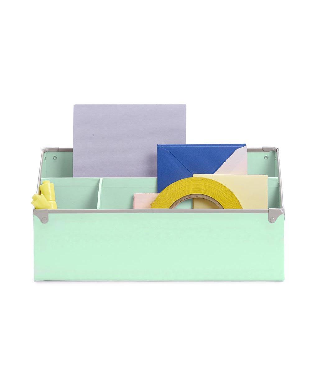 Frisco Desk Organizer, Mint/Fog Color