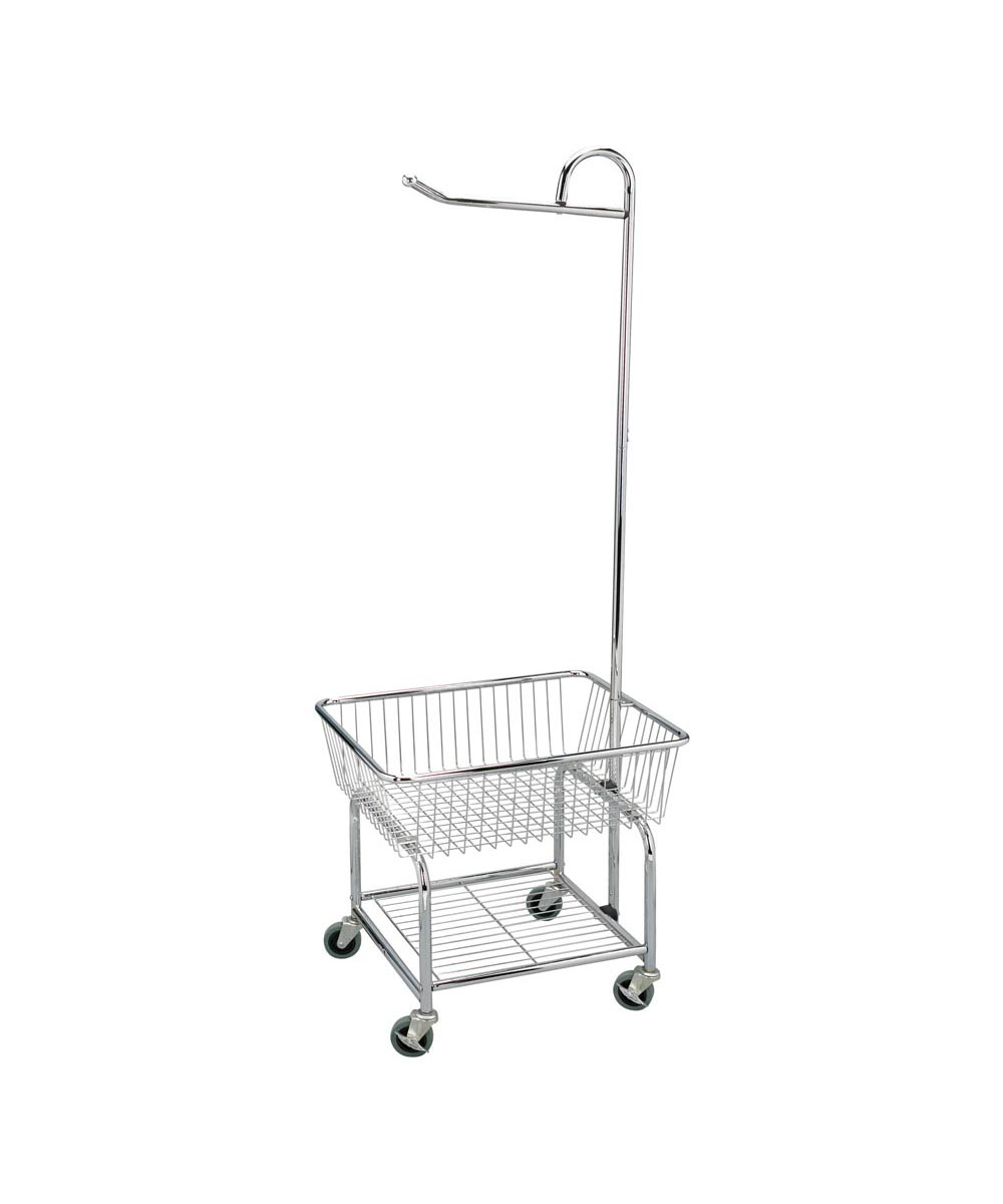 Rolling Laundry Butler Cart, Chrome