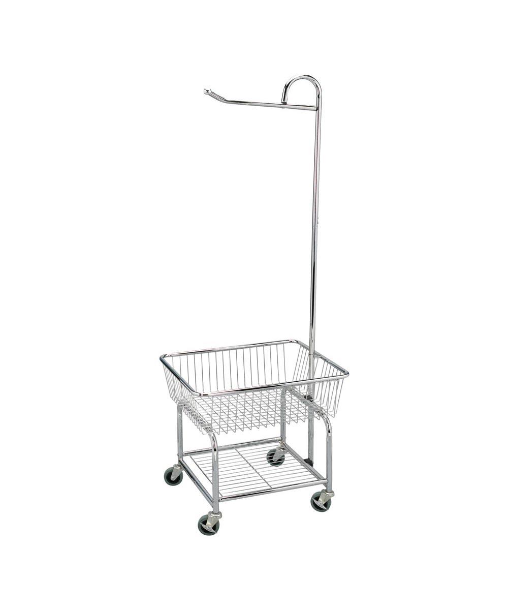 Rolling Laundry Butler Cart, Chrome