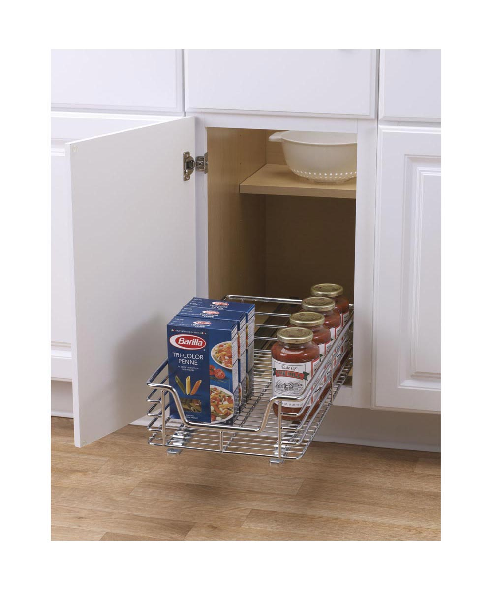 11.5x21 Inch Glidez Sliding Under-Cabinet Organizer, Chrome