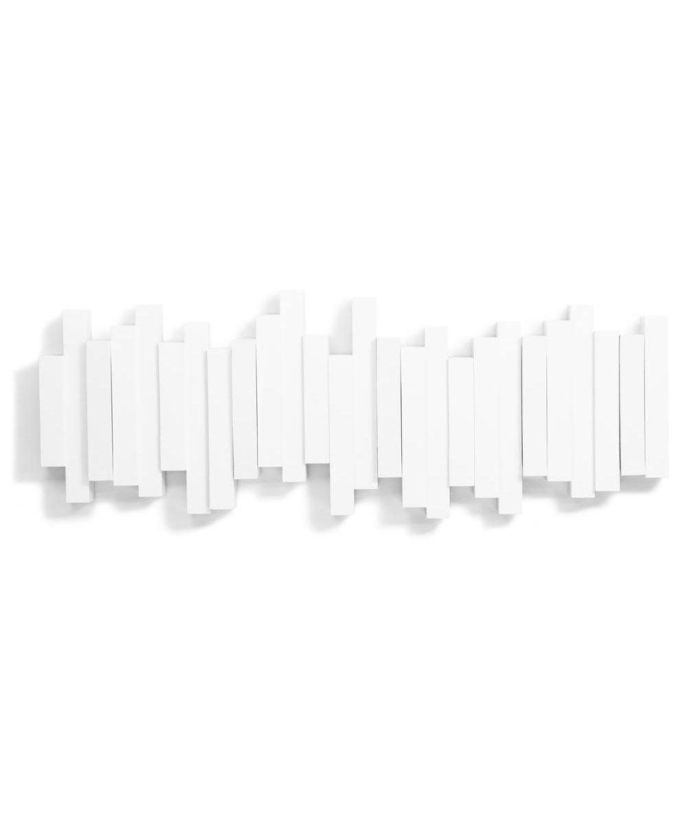 Stick Wall Mount Hooks, White