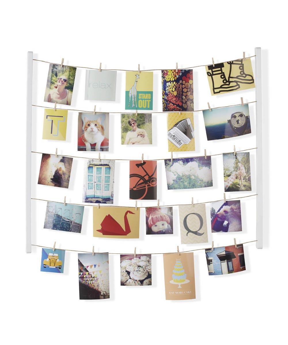 Hangit Photo Clothesline Display, White