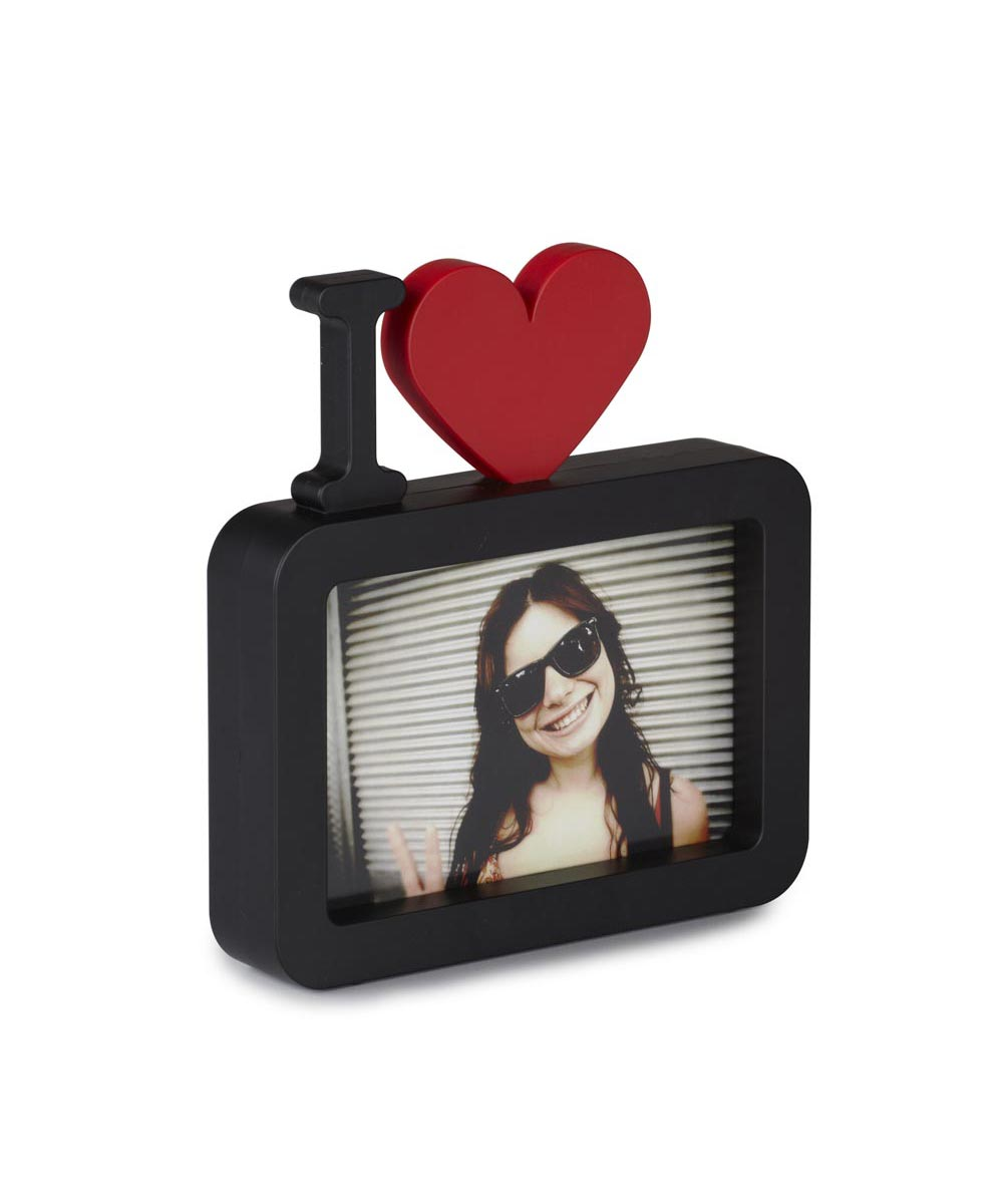 ULove Photo Display, I Heart <3, Black