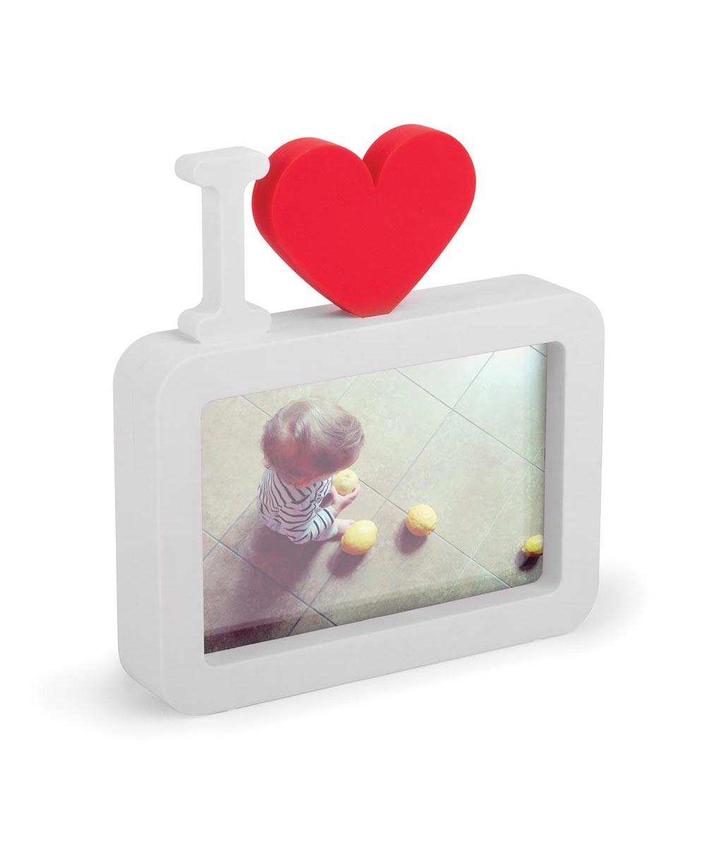ULove Photo Display, I Heart <3, White