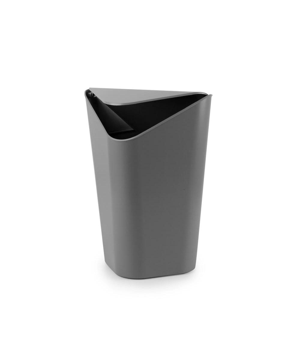 Corner Trash Can, Charcoal Color