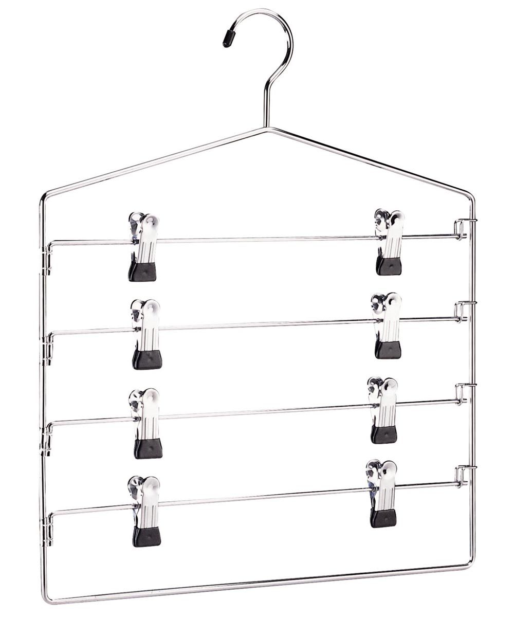 4-Tier Swing Arm Slack Rack with Clips