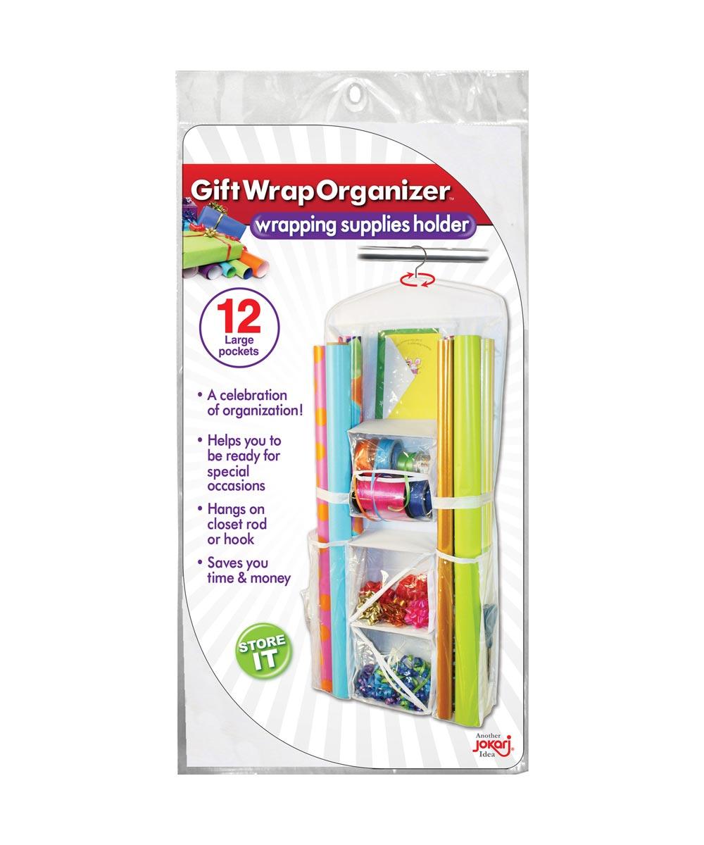 Gift Wrap Organizer, White