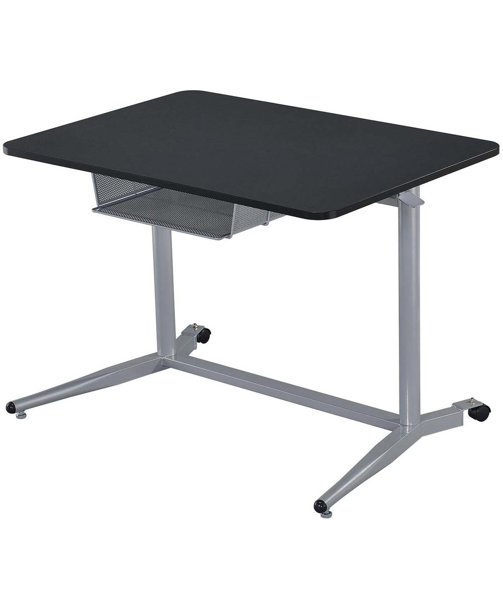 Desks Collection - Height Adjustable Standing Desk with Storage Compartment