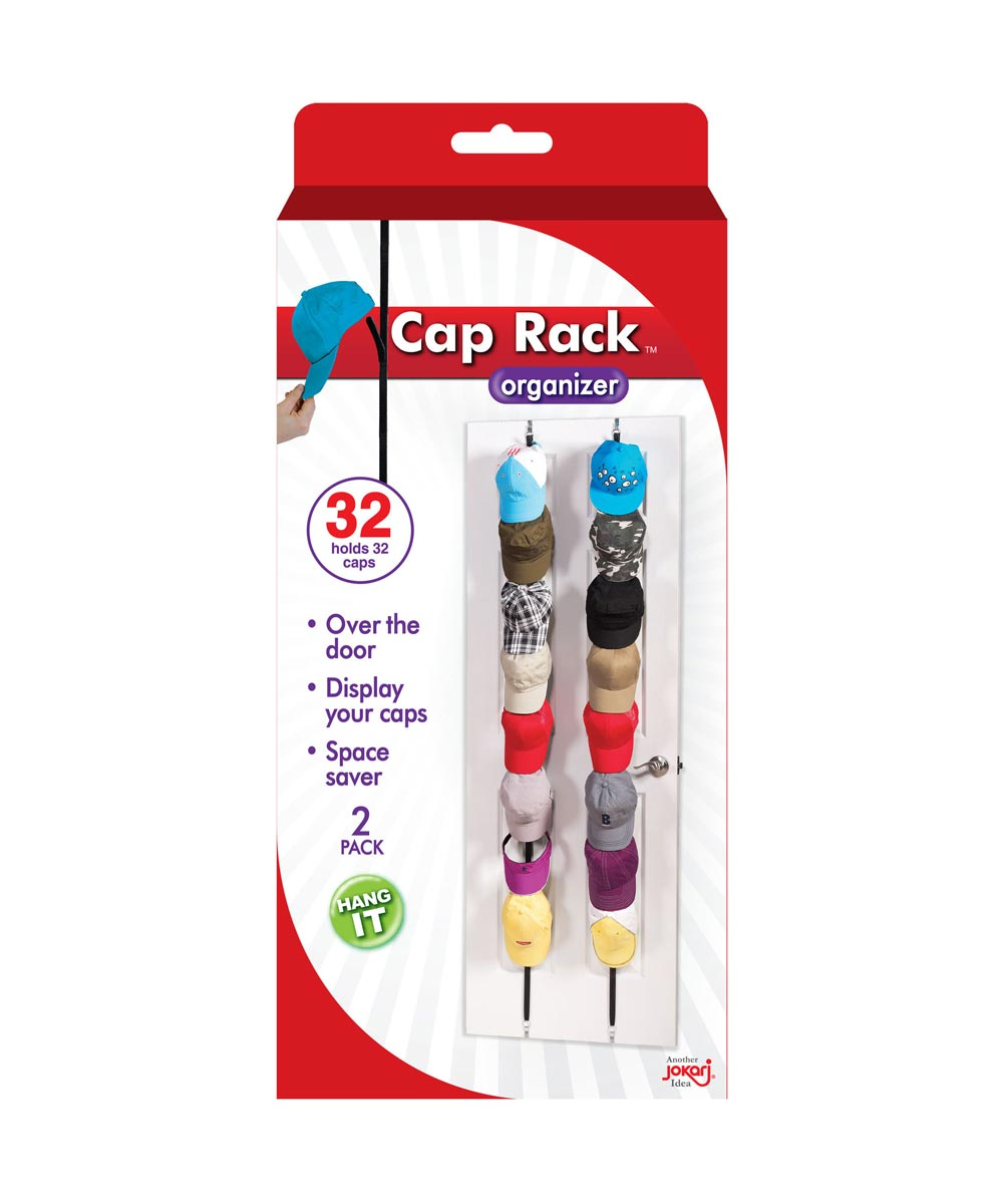 Over-the-Door Cap Rack Organizer, 2 Pack
