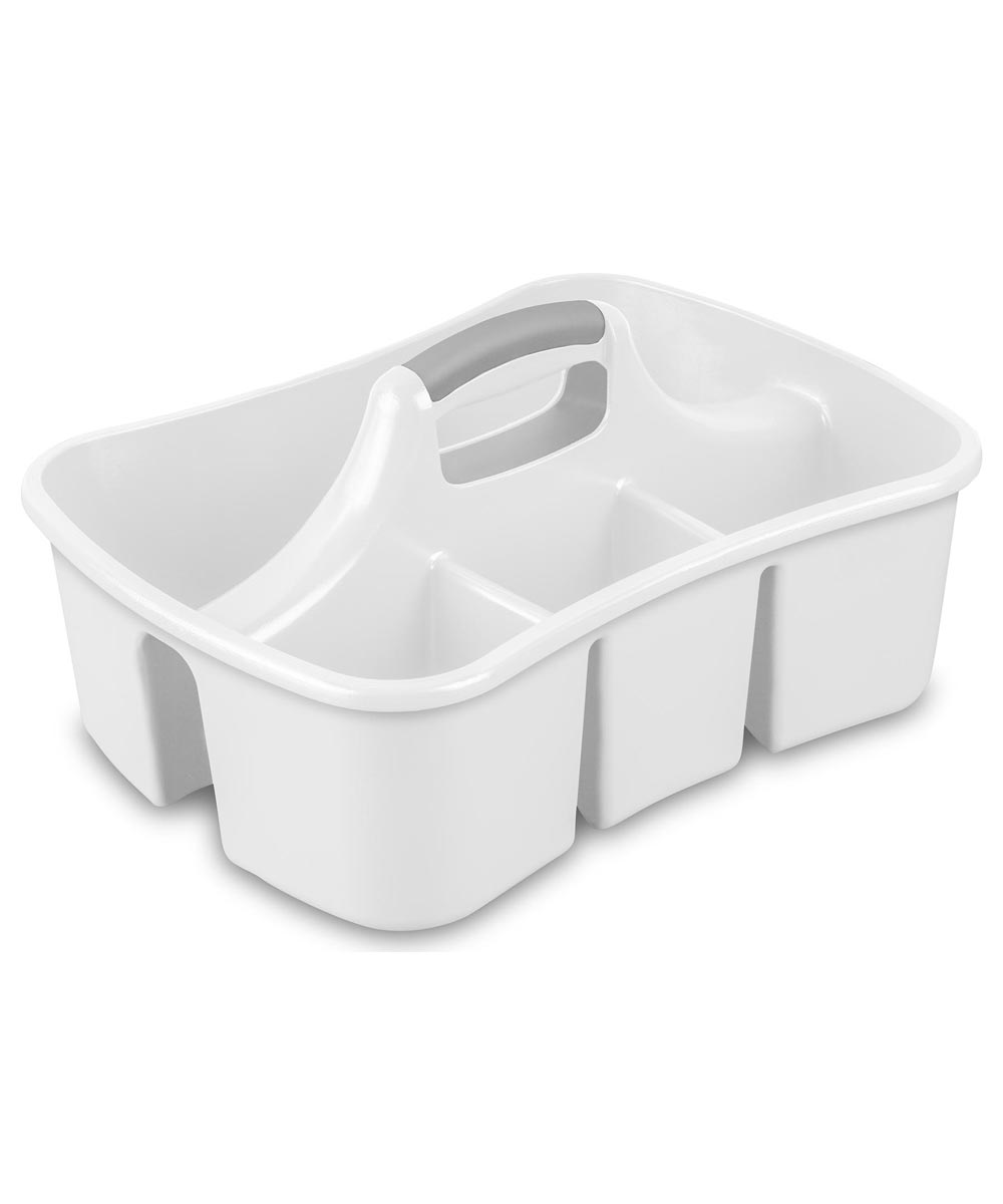 4-Compartment White Divided Ultra Caddy