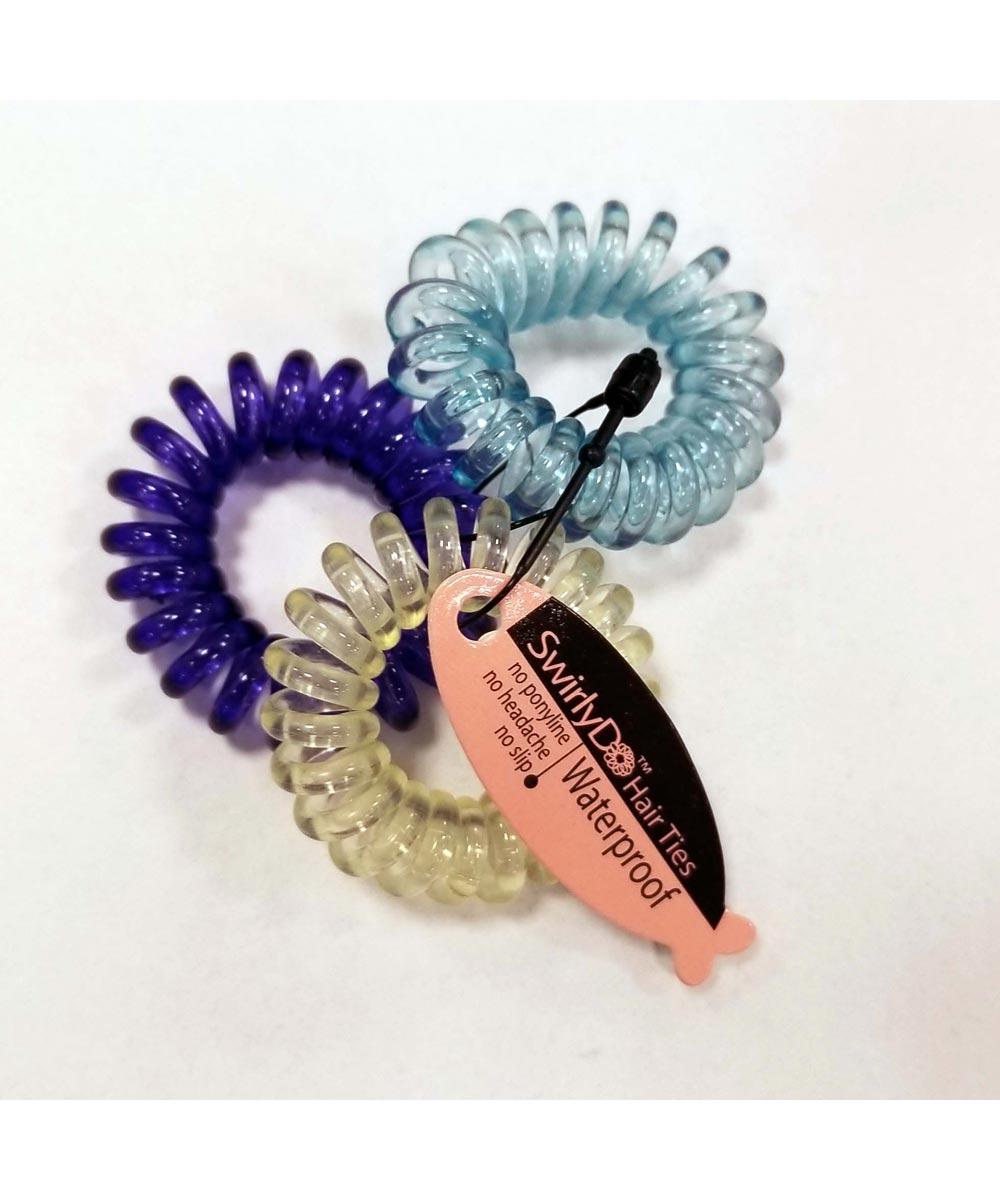 Mini SwirlyDo Hair Ties, 3 Pieces, Assorted Colors