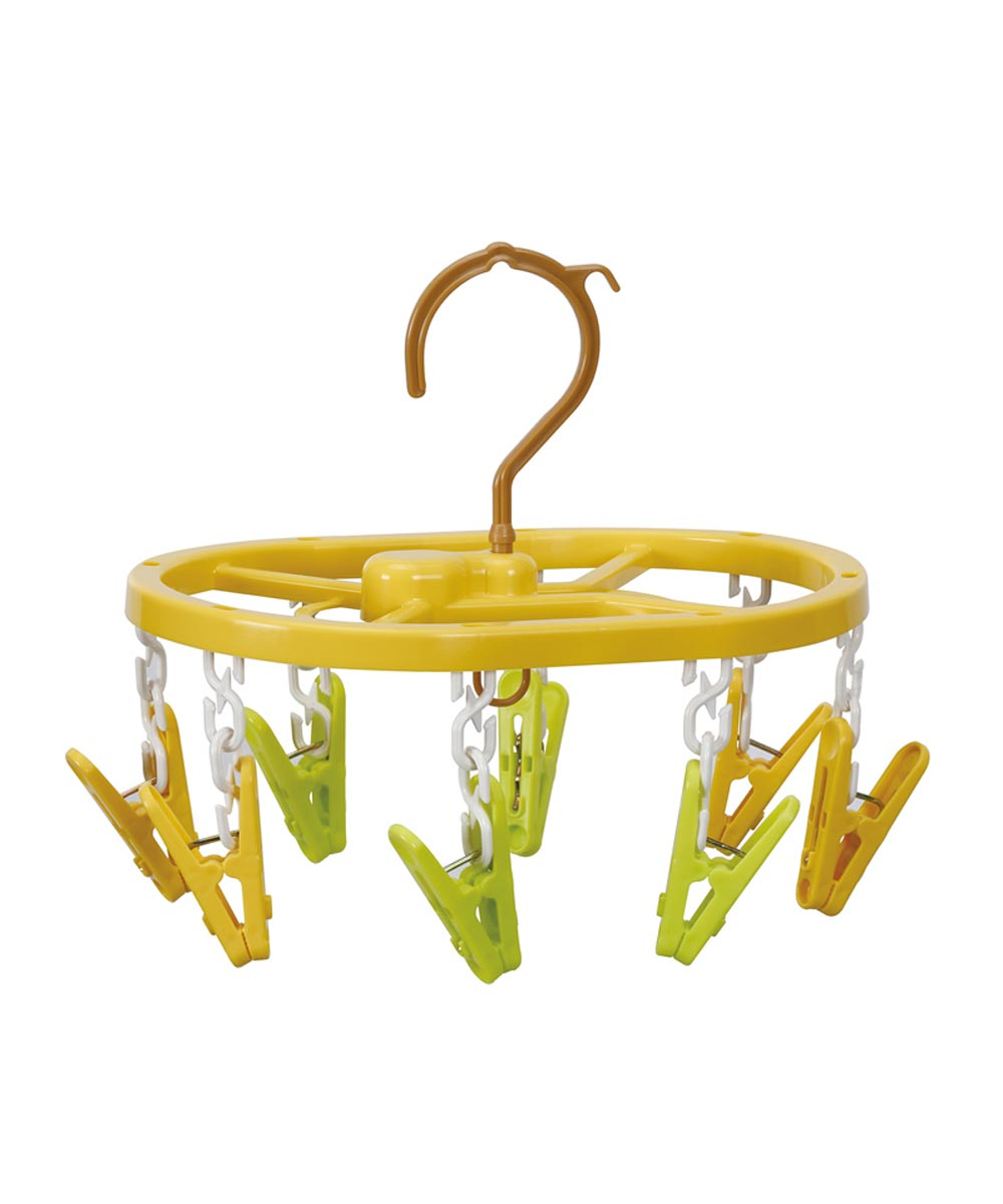 Mini Clothes Hanger with 8 Clips