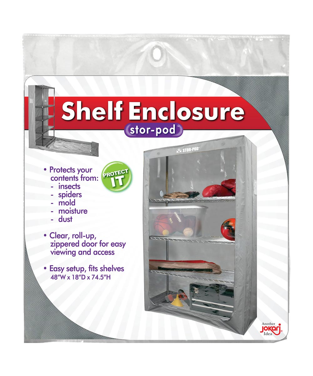 Stor-Pod Plastic Shelf Enclosure with Roll-Up Zippered Door