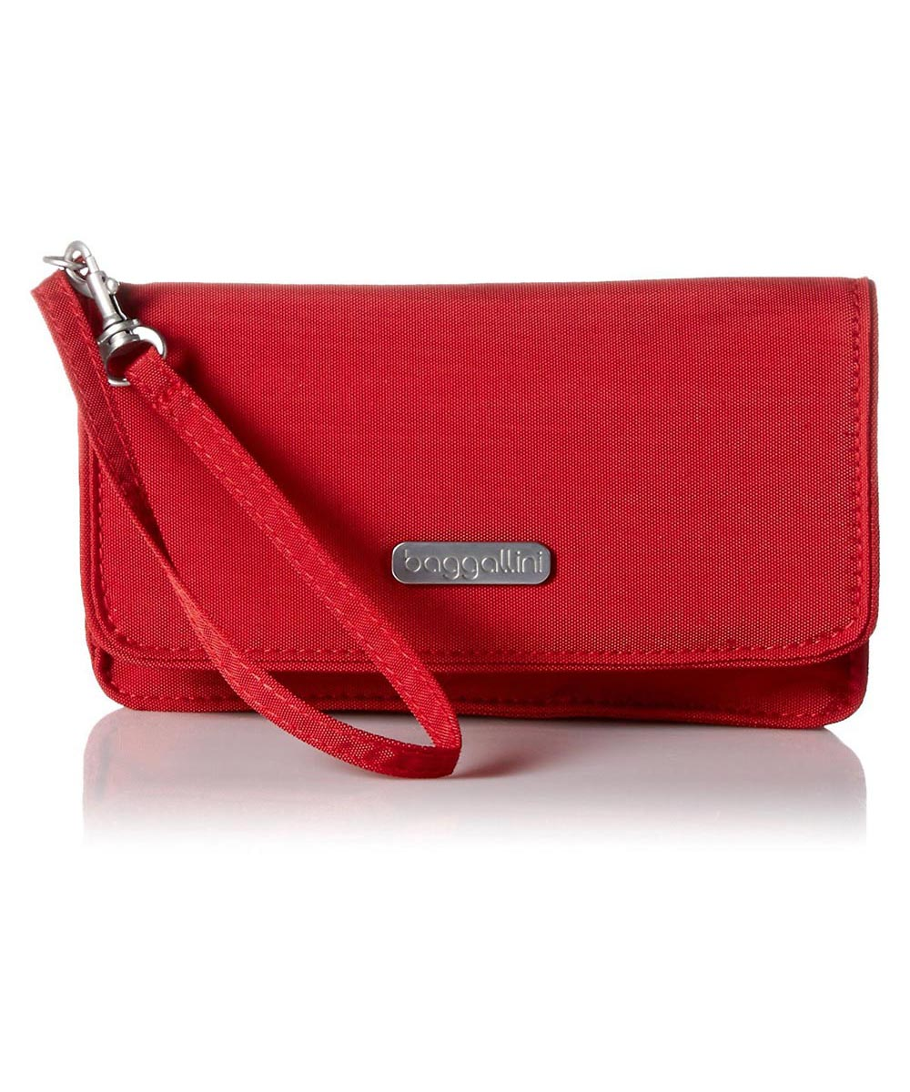 RFID Flap Wristlet, Apple Color