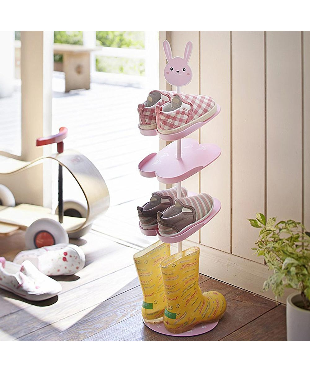 Pink Bunny Kid's Shoe Rack