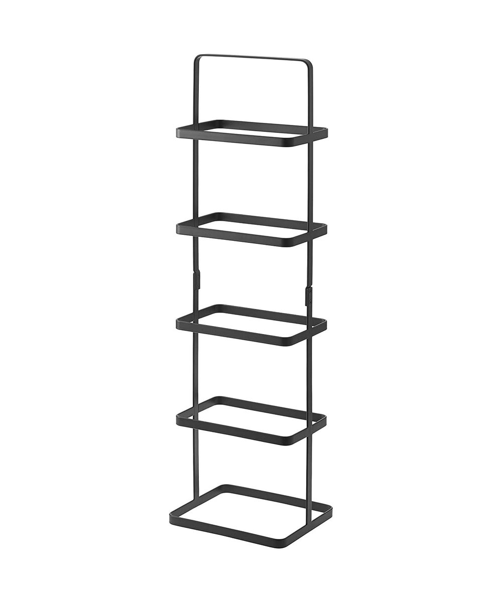 5-Tier Tower Shoe Rack, Black
