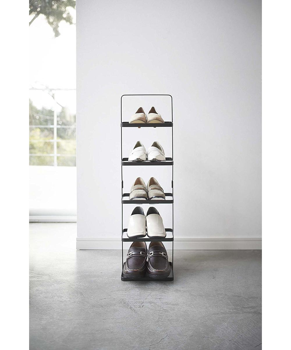 Black 5-Tier Tower Shoe Rack