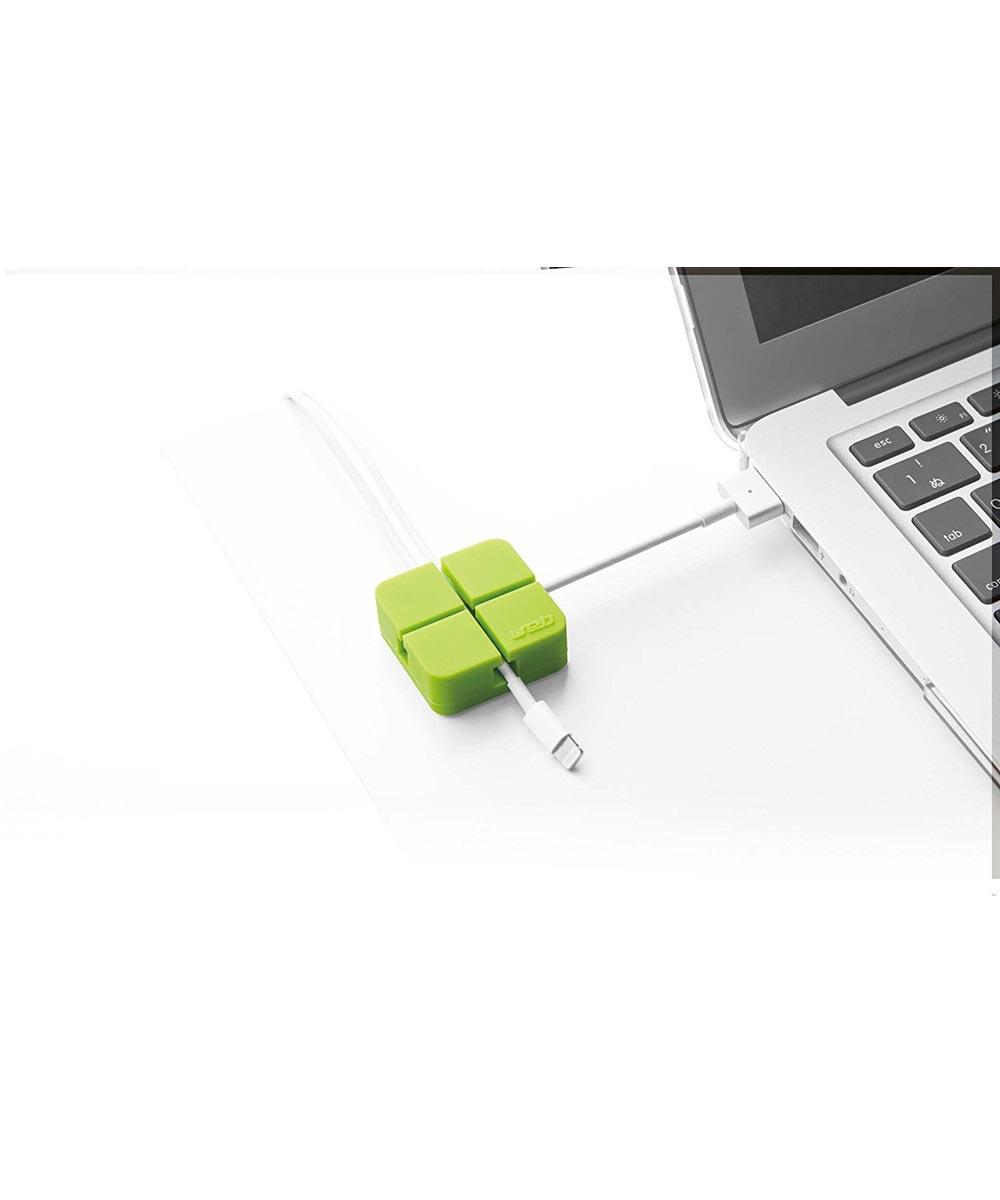 Electronics Web Cord Holder Organizer, Small, Green