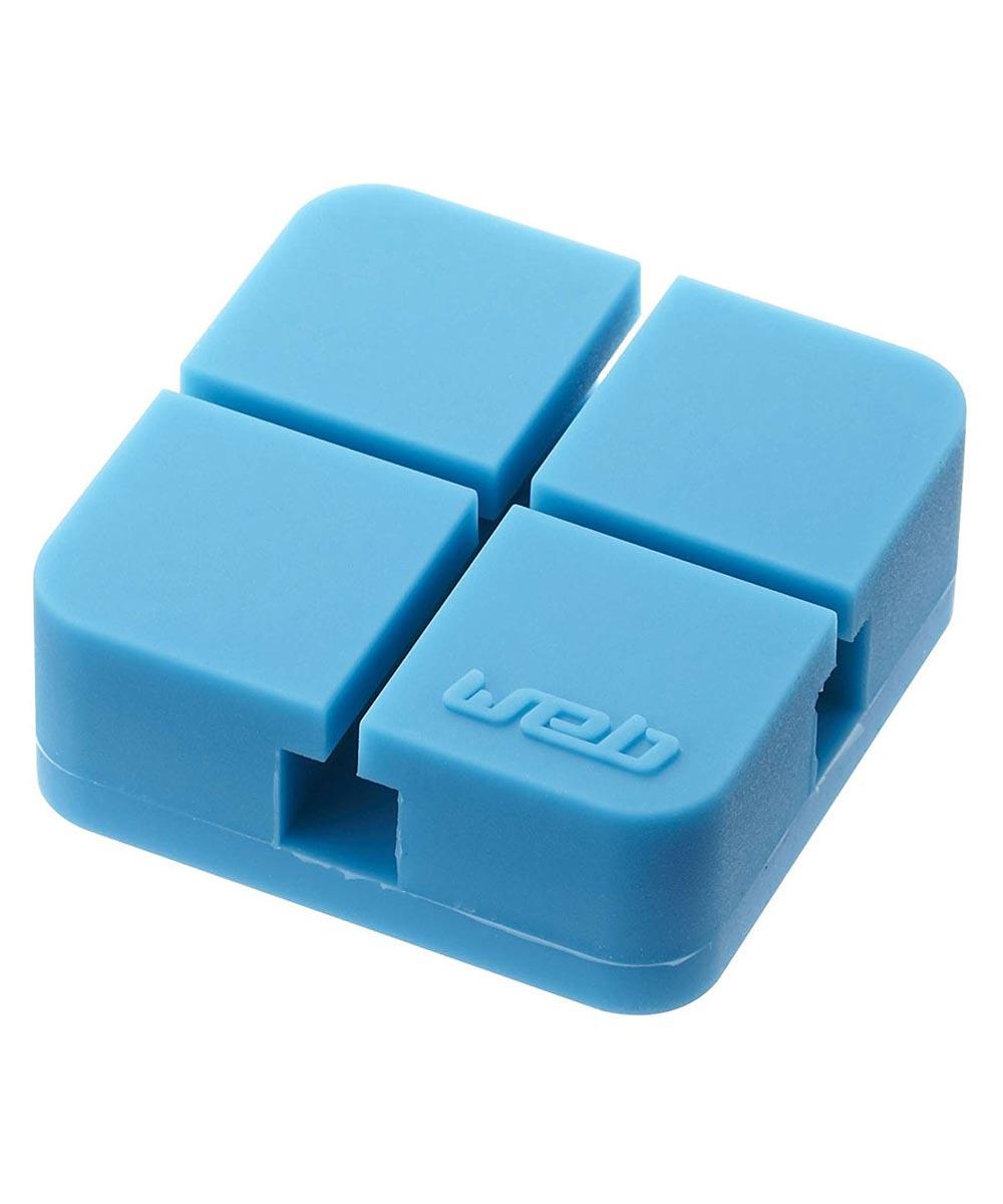 Electronics Web Cord Holder Organizer, Small, Blue