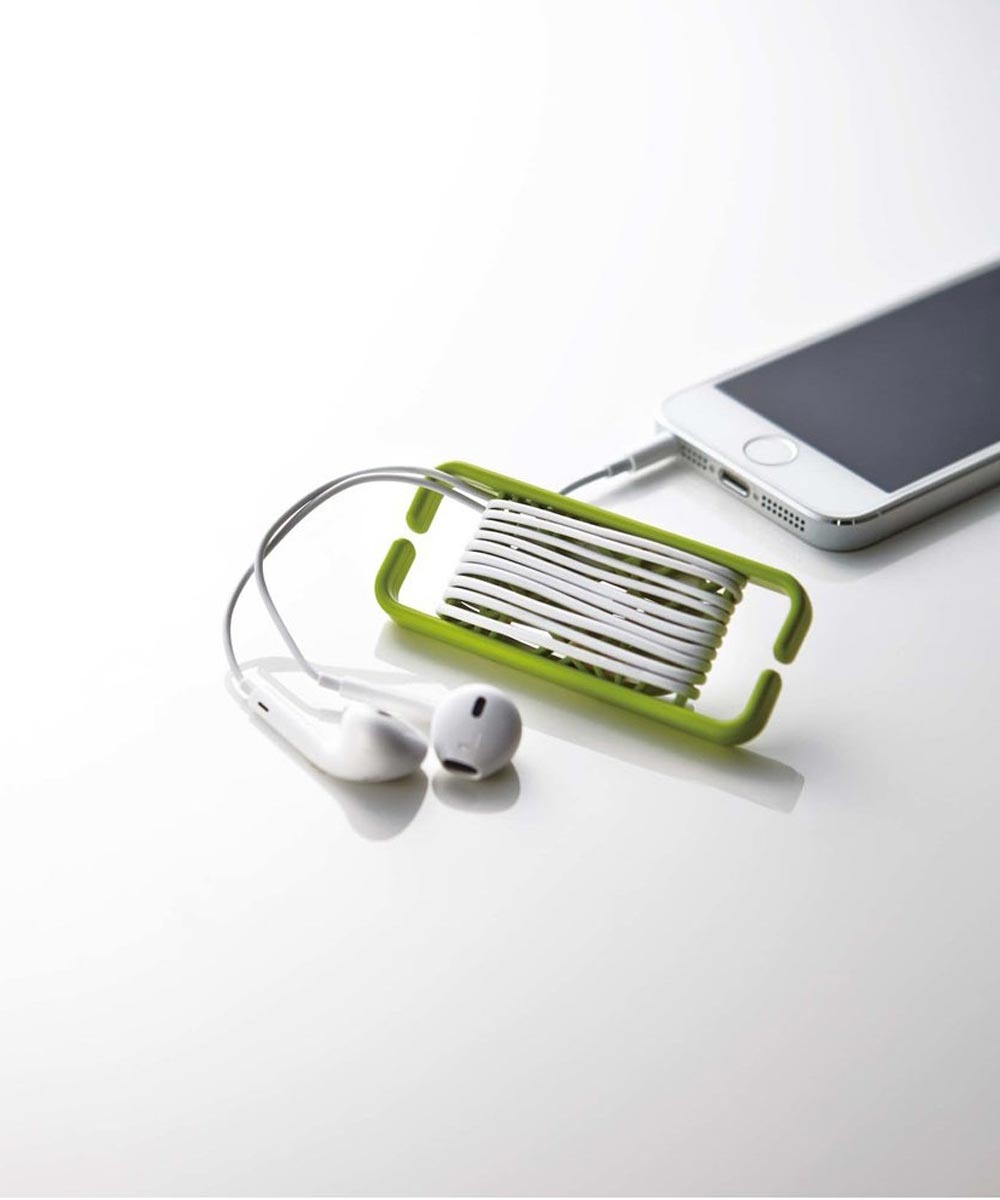 Web Earbud Cord Holder/Organizer, Green
