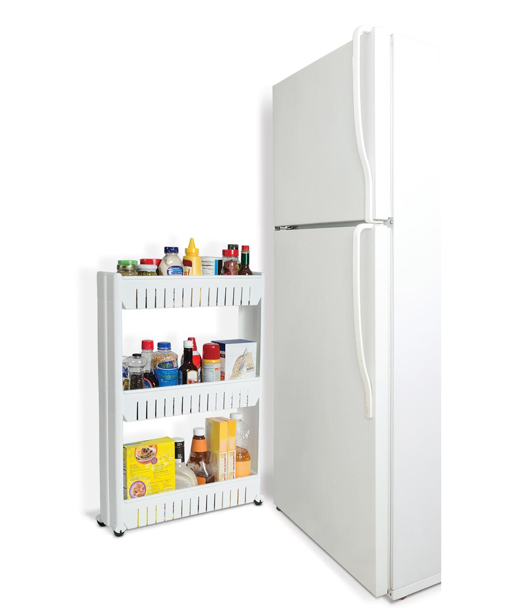 Simply Organized 3 Tier Slide Out Rolling Pantry Storage