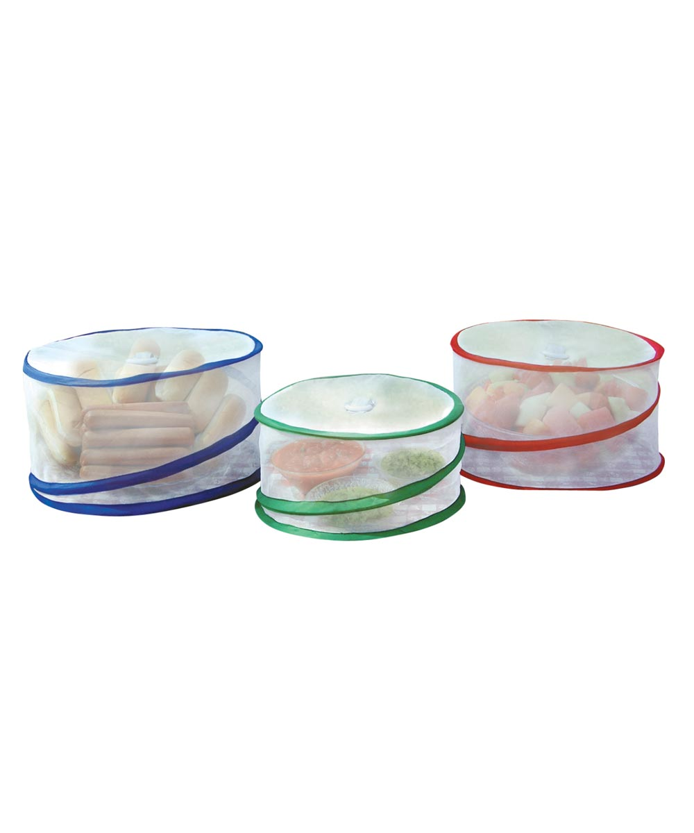 Pop Up Mesh Food Covers, Set of 3