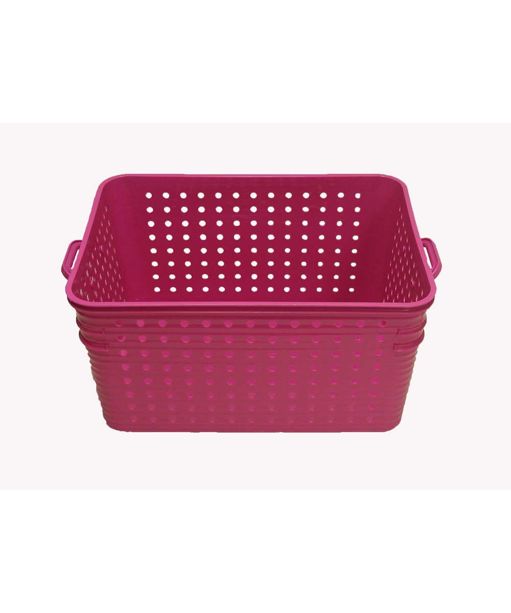 Large Dot Basket, Pink