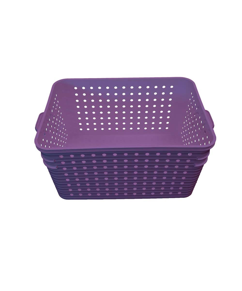 Large Dot Basket, Purple