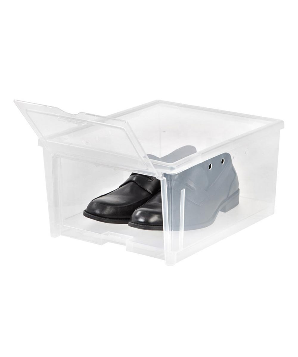 Easy Access Shoe Box, Clear, Ventilated