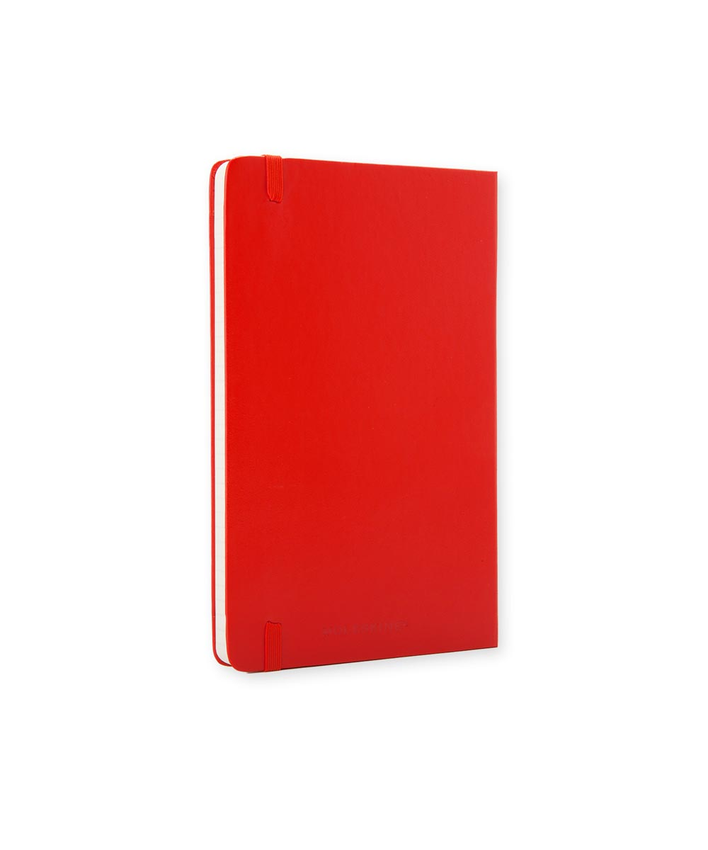 Classic Hard Cover Ruled Notebook Journal, Large 5x8.25 Inch, Red