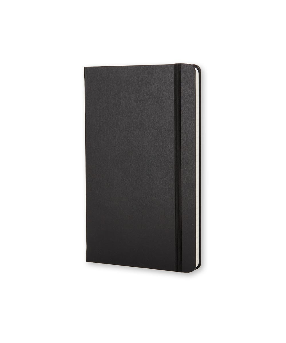 Classic Hard Cover Ruled Notebook Journal, Pocket 3.5x5.5 Inch, Black